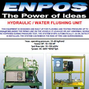 enpos flushing unit