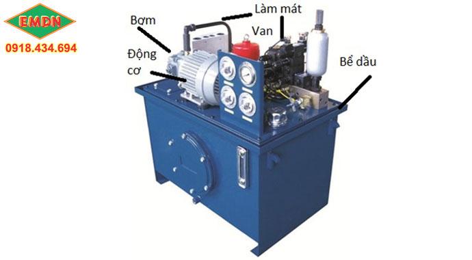 các thiết bị trong bộ nguồn thủy lực